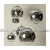 Illuminazione Pendant decorativa dell'argento popolare moderno della sfera di vetro