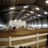 Edificio de acero de la arena del montar a caballo con el palmo grande