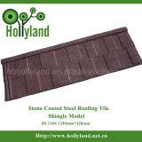 건설물자 돌 입히는 금속 기와 (지붕널 유형)