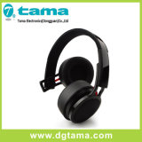 Color sin hilos largo de arriba plegable del negro del auricular de Bluetooth del tiempo espera