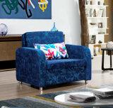 ホームホテルのためのすべての金属フレームが付いているファブリックSofabedの椅子