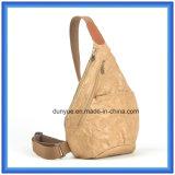 Sac de papier matériel neuf de sac à dos de sport en plein air de Dupont de modèle neuf, sac d'épaule simple de papier de Tyvek de poids léger de promotion avec la courroie réglable