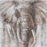 Arte animal de la pared de la pintura al óleo del arte para el rinoceronte