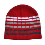 Красный Striped просто Beanie (JRK036)