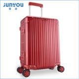 Высокая Qualilty Junyou алюминиевая рама 4 колеса 24 дюйма красной сумки багажного отделения по вопросу о торговле