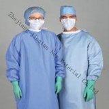 uso non tessuto blu & dentellare di 30~45g di SMS del tessuto per l'abito chirurgico dell'abito medico