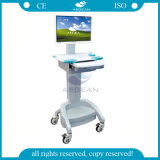 Ce ISO approuvé ABS Nouveau matériel Chariot informatique médical (AG-WT002A)
