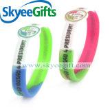 Wristband registrabile del silicone/braccialetto reso personale del silicone