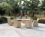 Rattan/patio di vimini del giardino che pranza gli insiemi per mobilia esterna (TG-JW48)