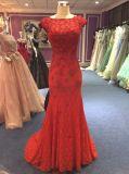 Vestido de noite do laço da sereia para o casamento