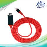 USBはCにギャラクシーS8のためのHDMIインターフェイス装置が付いているHDMIケーブルをタイプする