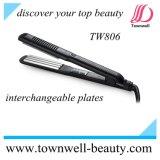 Straightener 2 do cabelo do revestimento cerâmico do equipamento do salão de beleza da beleza em 1