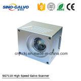 explorador Sg7110 del galvanómetro del laser de la fibra 20W para el shell del teléfono de la marca