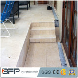 Pavimentadoras amarillentas de los azulejos de suelo de la piedra caliza para la decoración exterior