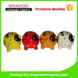 Brinquedo cerâmico de moedas de crianças para animais para salvar o banco