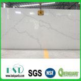 Calacatta Nuvoの白い水晶石の平板