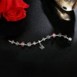 Braccialetti classici di fascino della stella dei branelli del pendente di amore & del Brown Murano di alta qualità