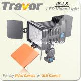 La luz de vídeo LED-L8 de la cámara
