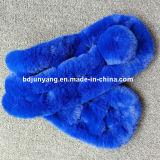 Горячие продавая женщины зимы цены по прейскуранту завода-изготовителя теплые связали шарф пинка шерсти норки