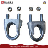 Dispositif de fixation galvanisé un type clip lourd de câble métallique