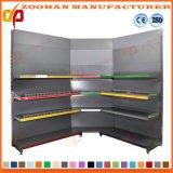 Einseitiges Metallecken-Supermarkt-Regal-Ausstellungsstand-Fach (Zhs48)