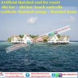 Tiki 바를 위한 자연적인 보기 종려 합성 이엉 또는 Tiki 오두막 합성 지붕을 짚으로 인 초막 물 방갈로 비치 파라솔 18