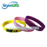 Logo promotionnel Fashion Debossed Ink rempli de bracelet en silicone