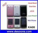 De mini Mobiele Band van de Vierling van Jinpeng van de Telefoon Ka08 Dubbele Kaarten SIM