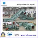 embaladora hidráulica horizontal del papel usado de 50HP HELLOBALER