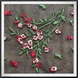 Ineinander greifen-Blumen-Stickerei-Tulle-Blumenstickerei