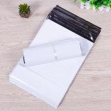 Poly enveloppe de poly de courrier sac blanc fait sur commande de poste avec le joint
