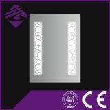 Jnh251 lujoso espejo de baño de cristal iluminado LED con pantalla táctil