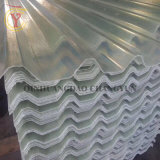 Aplique uma camada de gel de plástico reforçado por fibra de vidro do painel da folha GRP de folha de película exterior