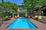 Decking oco das vendas quentes WPC para a piscina impermeável