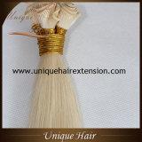 Trame 100% de cheveu attachée par main de cheveux humains de Remy