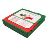 Установите флажок бумаги - пиццу в салоне для производства продуктов питания и ресторан
