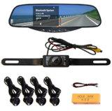 Caméra de rétroviseur de plaque minéralogique kit voiture Bluetooth sans fil Le système de capteur de stationnement(BT728)