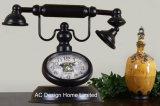 Orologio del piano d'appoggio del metallo di figura del telefono del turchese dell'oggetto d'antiquariato della decorazione dell'annata