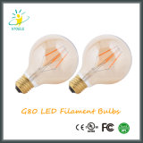 G25 / G80 / G95 / G125 Éclairage Amber Vintage Light Dimmable LED Filament