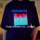 T-shirt d'EL du détecteur DEL de musique