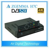 Cadre de Multistream 4K UHD Kodi TV de dual core de fonction de Ci+ Zgemma H7c avec les tuners triples de DVB-S2X+2*DVB-T2/C