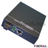 Wdm Optical Fiber Media Converter 10 / 100m 1X9 Módulo Interno 100km