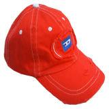 100% algodón lavado Roja Gorra de béisbol (D422)