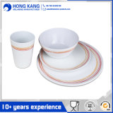 Multicolor 5 PCS de mesa Dinnerware Melamina Jantar Set