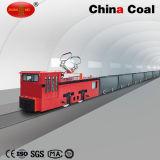 Cjy14/6gp 14t Tiefbaulaufkatze-obenliegende Zeile elektrische Grubenlokomotive