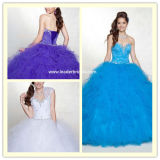 Novo Cordão Strapless Quineanera Vestidos Tulle Ball Robes Ya71