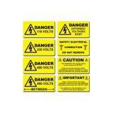 마포, UV, 화학 저항하는 옥외 안전 경고 레벨