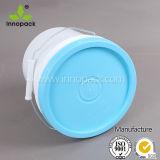 Spesso 1 gallone li mura benna di plastica di stile con il coperchio verde