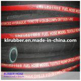 Boyau en caoutchouc tressé de vapeur de fil d'acier avec Temperatur élevé