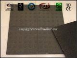 Tuile en caoutchouc de sûreté tactile extérieure/étage rond en caoutchouc de POINT